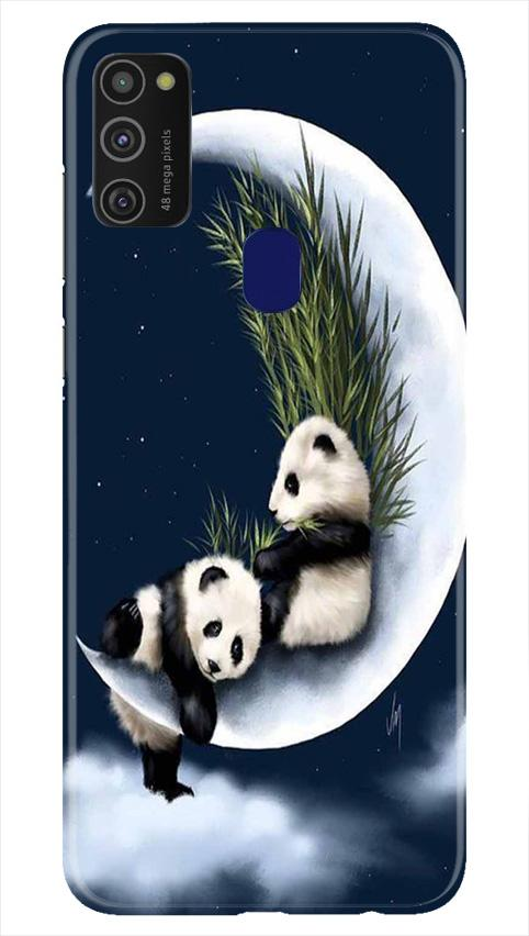 Panda Moon Mobile Back Case for Samsung Galaxy M21   (Design - 318)