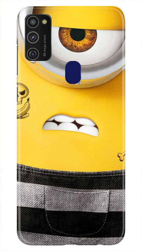 Minion Mobile Back Case for Samsung Galaxy M21   (Design - 324)