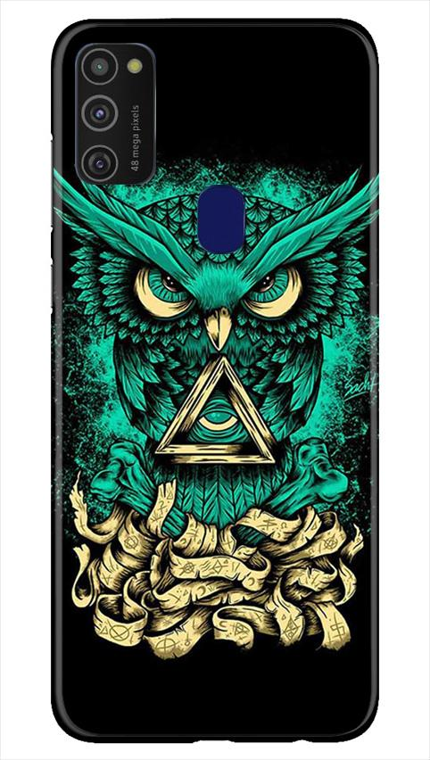 Owl Mobile Back Case for Samsung Galaxy M21   (Design - 358)