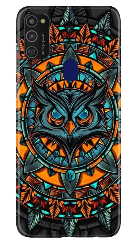 Owl Mobile Back Case for Samsung Galaxy M21   (Design - 360)
