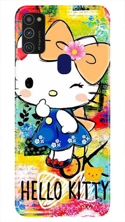 Hello Kitty Mobile Back Case for Samsung Galaxy M21   (Design - 362)