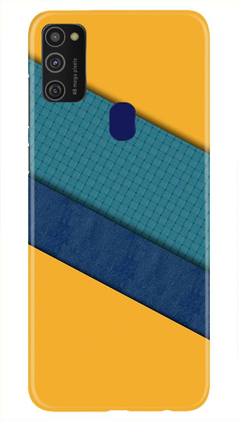 Diagonal Pattern Mobile Back Case for Samsung Galaxy M21   (Design - 370)