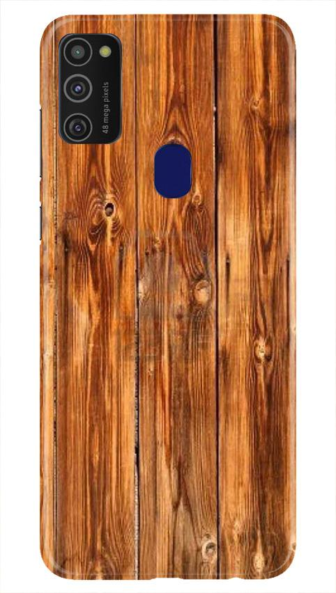 Wooden Texture Mobile Back Case for Samsung Galaxy M21   (Design - 376)