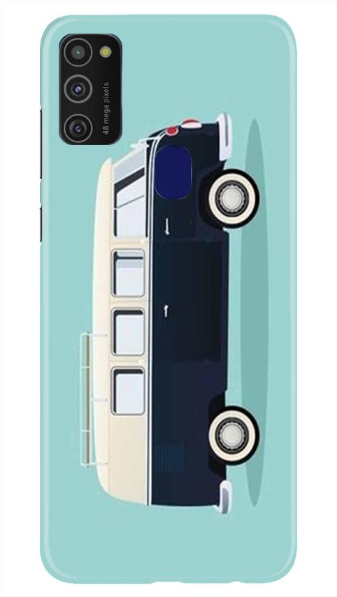 Travel Bus Mobile Back Case for Samsung Galaxy M21   (Design - 379)