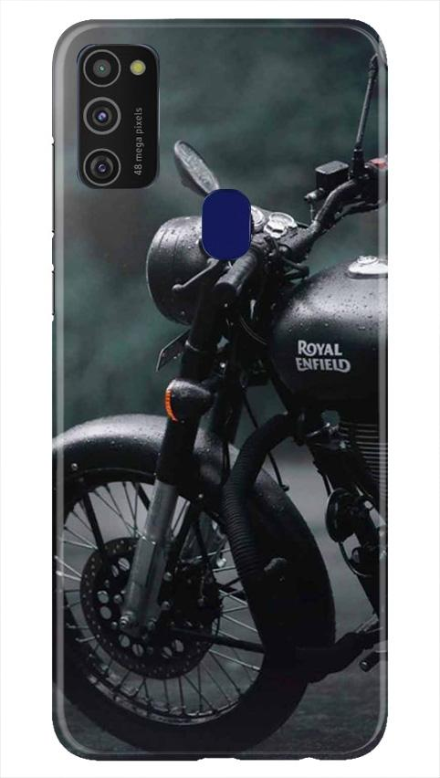 Royal Enfield Mobile Back Case for Samsung Galaxy M21   (Design - 380)