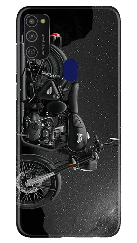 Royal Enfield Mobile Back Case for Samsung Galaxy M21   (Design - 381)