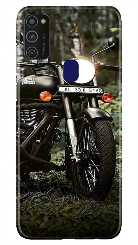 Royal Enfield Mobile Back Case for Samsung Galaxy M21   (Design - 384)