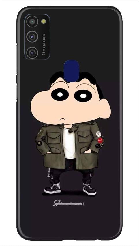 Shin Chan Mobile Back Case for Samsung Galaxy M21   (Design - 391)