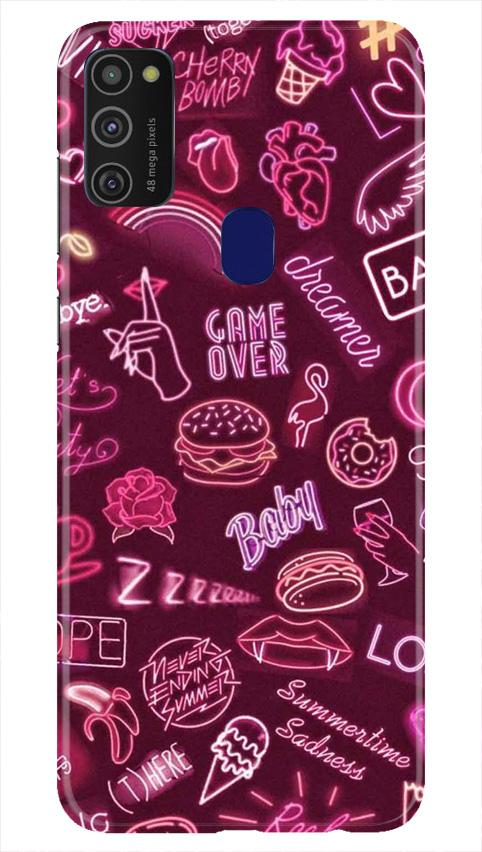 Party Theme Mobile Back Case for Samsung Galaxy M21   (Design - 392)