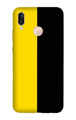 Black Yellow Pattern Mobile Back Case for Vivo X21 (Design - 397)
