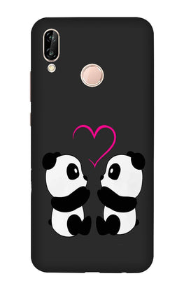 Panda Love Mobile Back Case for Vivo X21 (Design - 398)