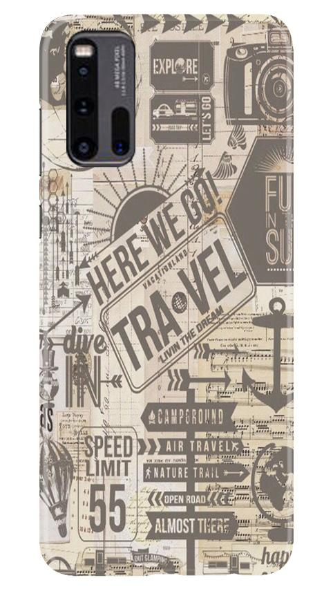 Travel Case for Vivo iQ00 3  (Design - 104)