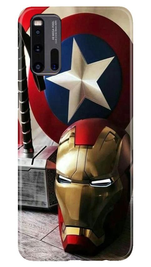 Ironman Captain America Case for Vivo iQ00 3 (Design No. 254)