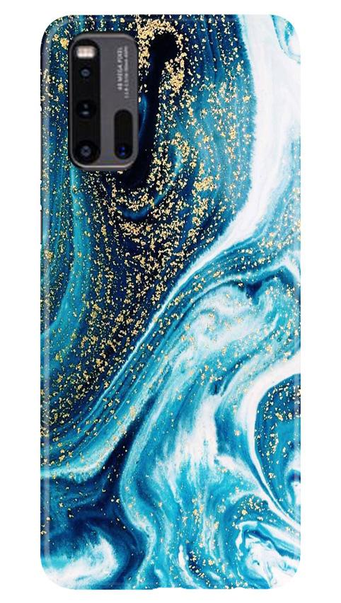 Marble Texture Mobile Back Case for Vivo iQ00 3 (Design - 308)