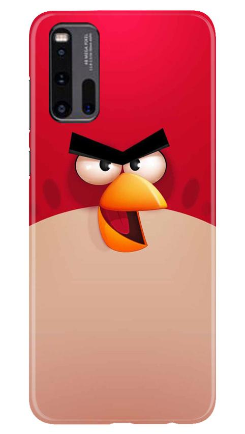 Angry Bird Red Mobile Back Case for Vivo iQ00 3 (Design - 325)