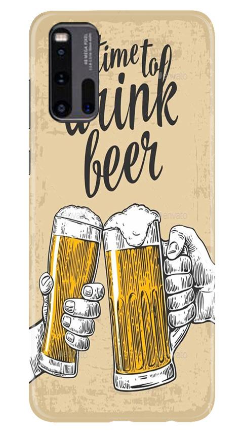 Drink Beer Mobile Back Case for Vivo iQ00 3 (Design - 328)