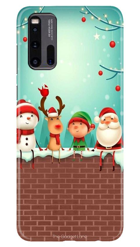 Santa Claus Mobile Back Case for Vivo iQ00 3 (Design - 334)