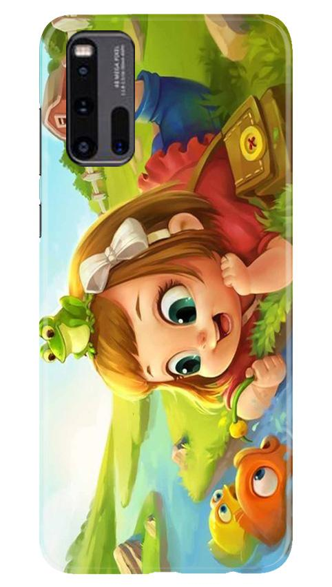 Baby Girl Mobile Back Case for Vivo iQ00 3 (Design - 339)