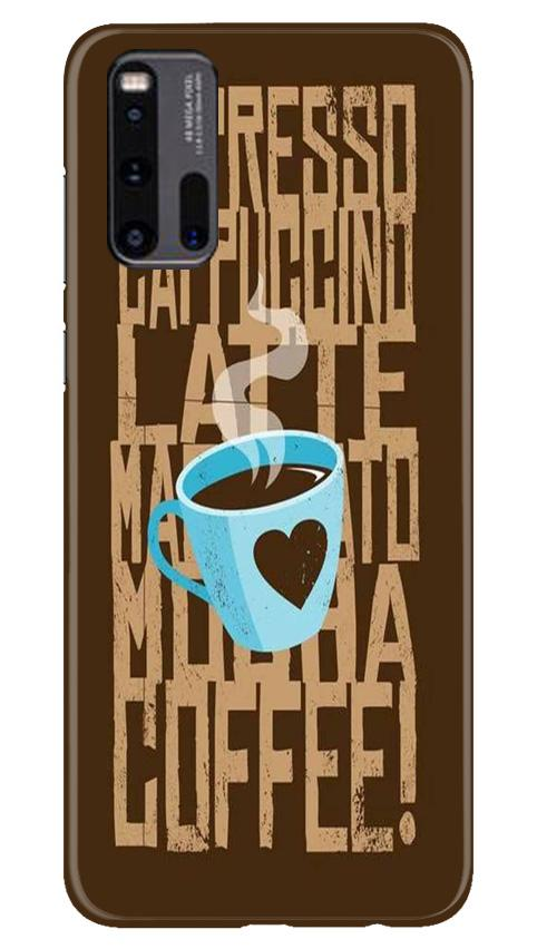 Love Coffee Mobile Back Case for Vivo iQ00 3 (Design - 351)