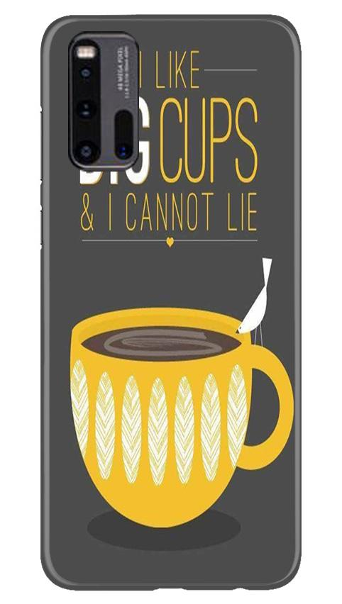 Big Cups Coffee Mobile Back Case for Vivo iQ00 3 (Design - 352)