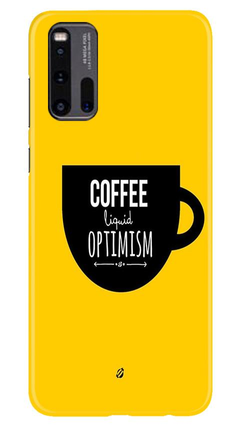 Coffee Optimism Mobile Back Case for Vivo iQ00 3 (Design - 353)