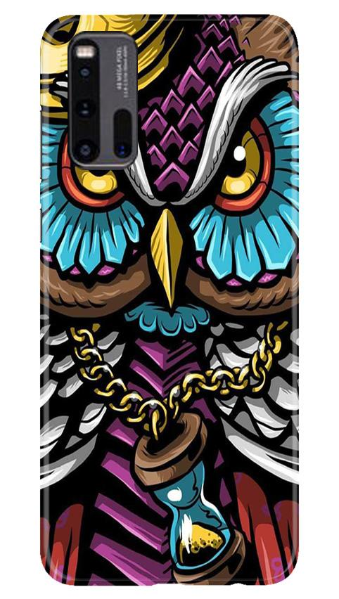 Owl Mobile Back Case for Vivo iQ00 3 (Design - 359)