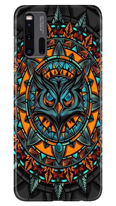 Owl Mobile Back Case for Vivo iQ00 3 (Design - 360)