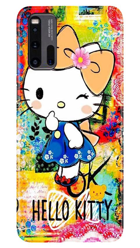 Hello Kitty Mobile Back Case for Vivo iQ00 3 (Design - 362)
