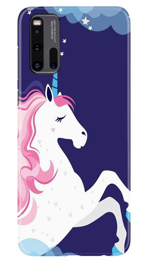 Unicorn Mobile Back Case for Vivo iQ00 3 (Design - 365)