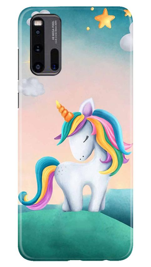 Unicorn Mobile Back Case for Vivo iQ00 3 (Design - 366)