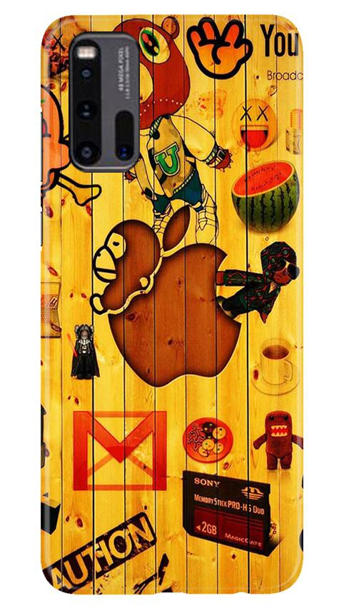 Wooden Texture Mobile Back Case for Vivo iQ00 3 (Design - 367)