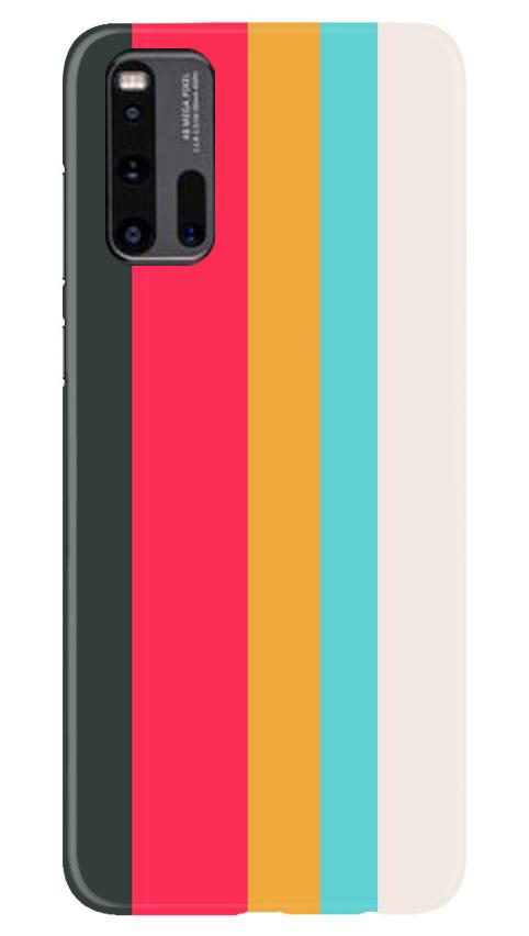 Color Pattern Mobile Back Case for Vivo iQ00 3 (Design - 369)