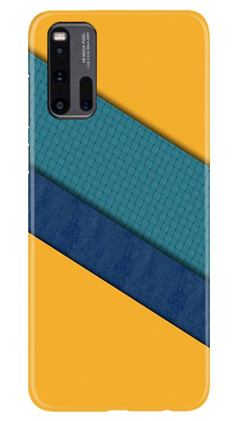 Diagonal Pattern Mobile Back Case for Vivo iQ00 3 (Design - 370)