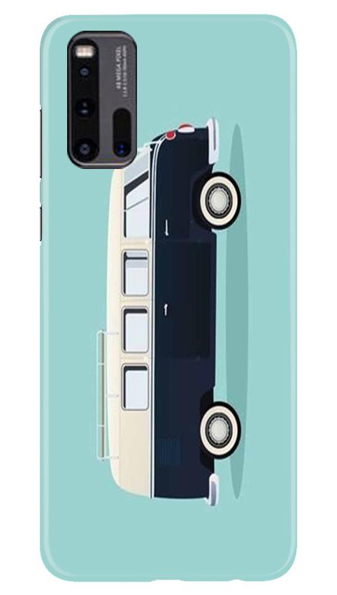 Travel Bus Mobile Back Case for Vivo iQ00 3 (Design - 379)