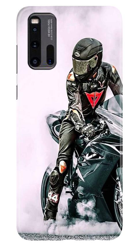 Biker Mobile Back Case for Vivo iQ00 3 (Design - 383)