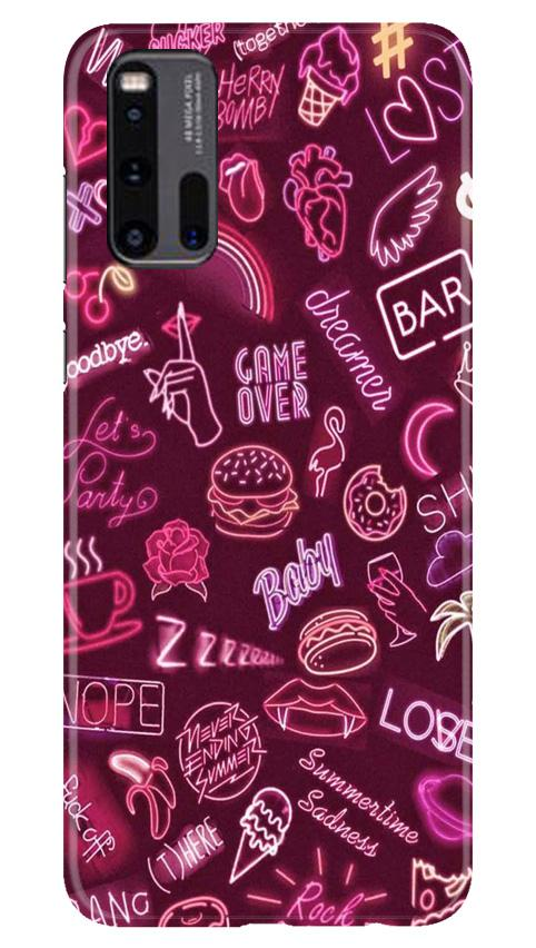 Party Theme Mobile Back Case for Vivo iQ00 3 (Design - 392)
