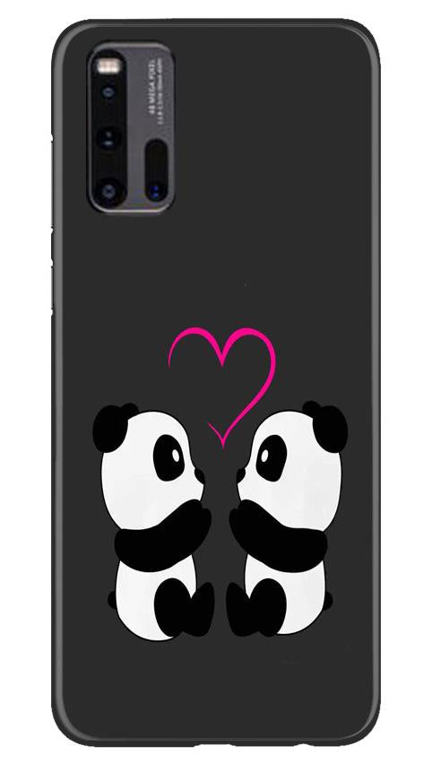 Panda Love Mobile Back Case for Vivo iQ00 3 (Design - 398)