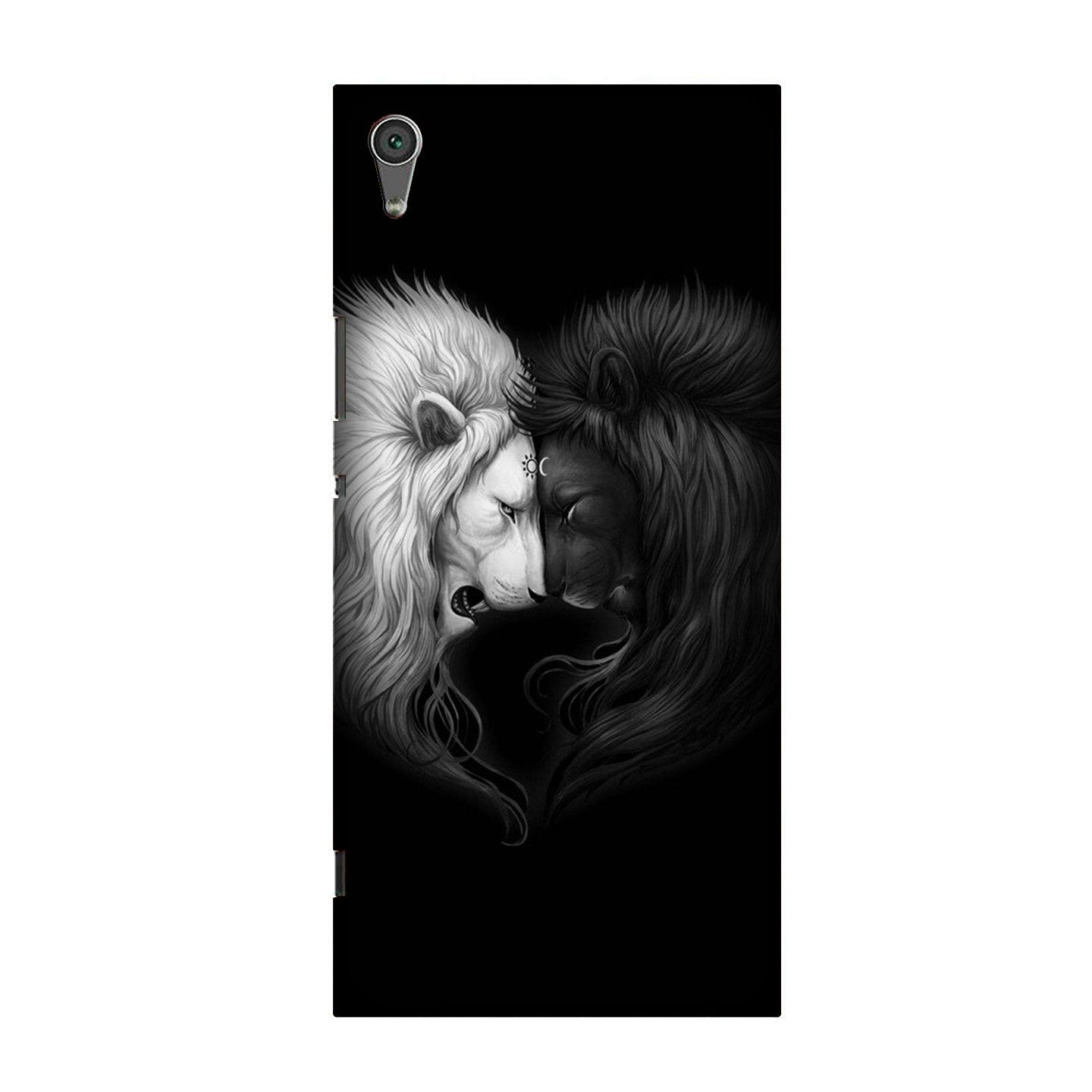 Dark White Lion Case for Sony XA Ultra  (Design - 140)