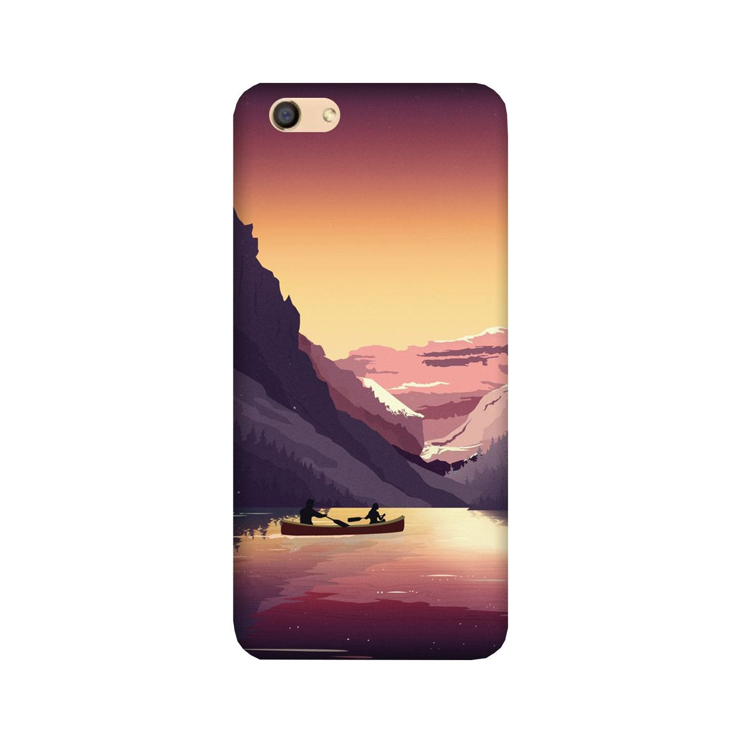 Mountains Boat Case for Vivo Y53/Y53i (Design - 181)