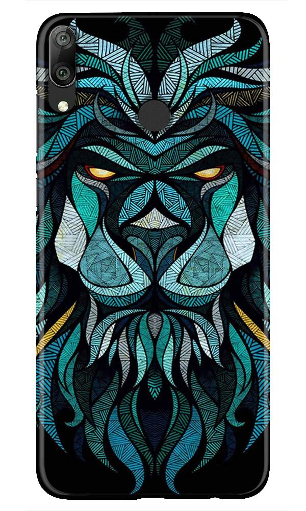 Lion Mobile Back Case for Honor Play (Design - 314)