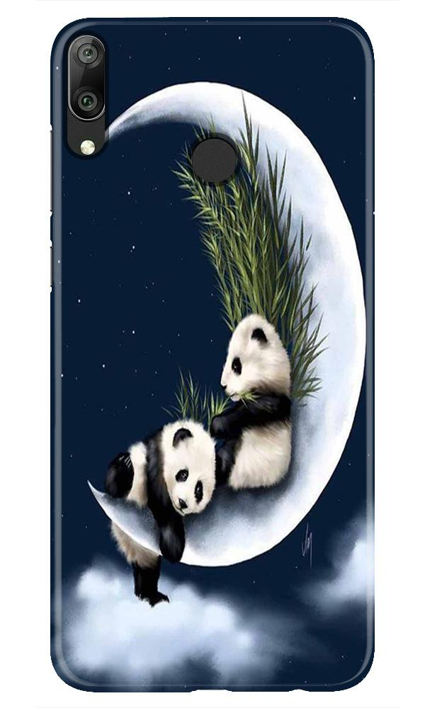 Panda Moon Mobile Back Case for Honor Play (Design - 318)