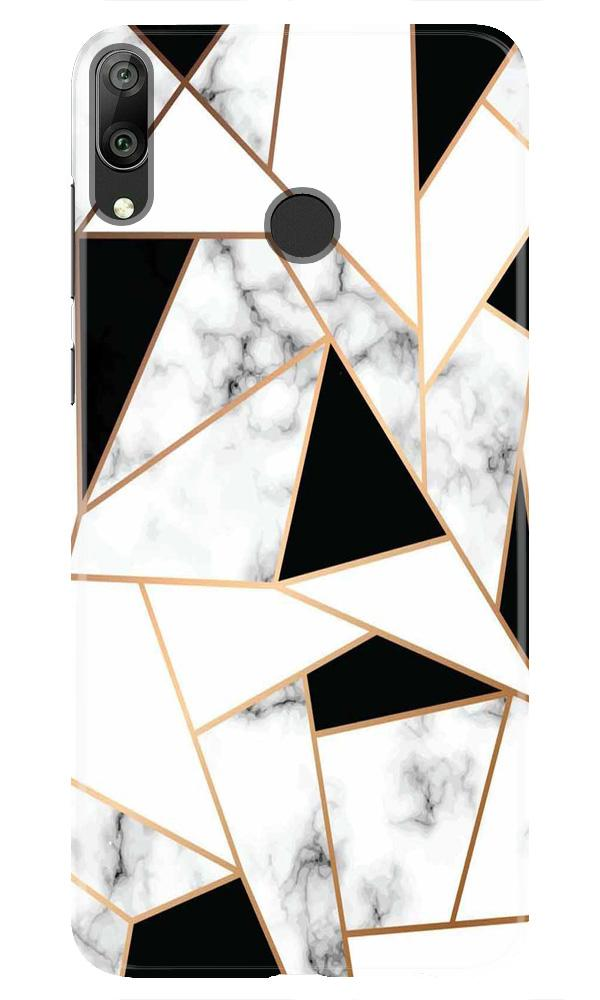 Marble Texture Mobile Back Case for Honor Play (Design - 322)
