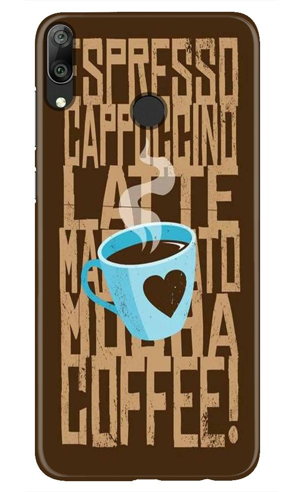 Love Coffee Mobile Back Case for Honor Play (Design - 351)