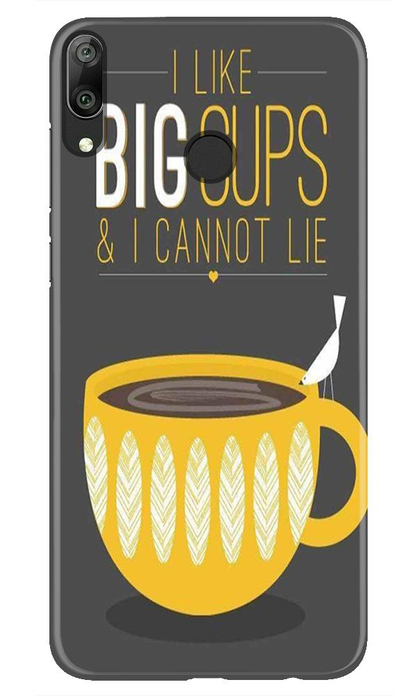Big Cups Coffee Mobile Back Case for Honor Play (Design - 352)