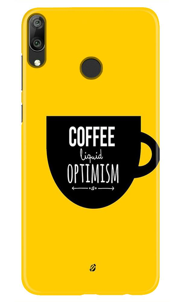 Coffee Optimism Mobile Back Case for Honor Play (Design - 353)