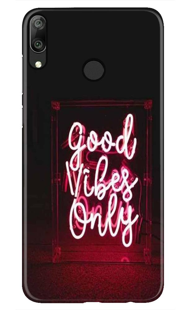 Good Vibes Only Mobile Back Case for Honor Play (Design - 354)