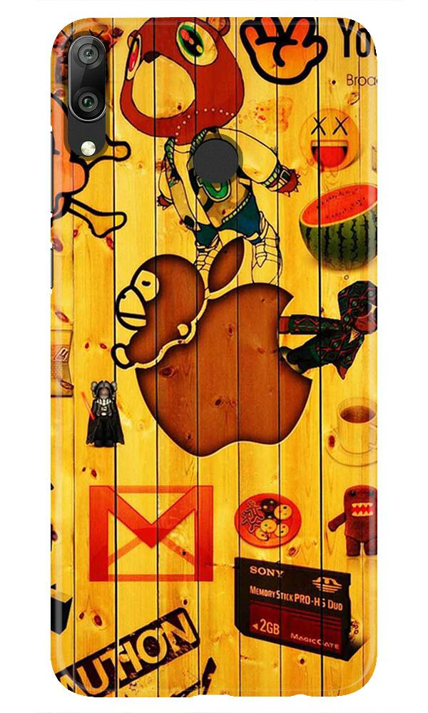 Wooden Texture Mobile Back Case for Honor Play (Design - 367)