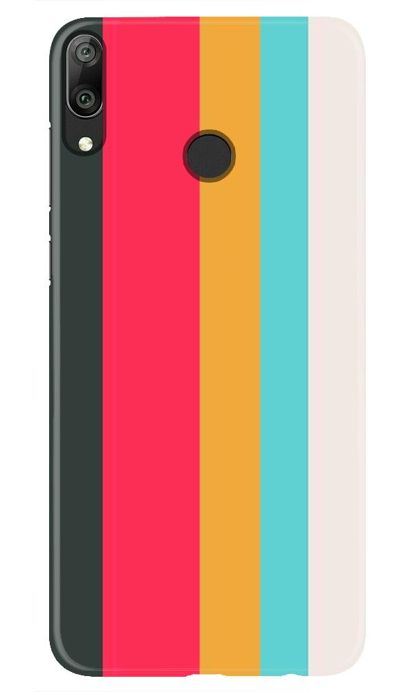 Color Pattern Mobile Back Case for Honor Play (Design - 369)