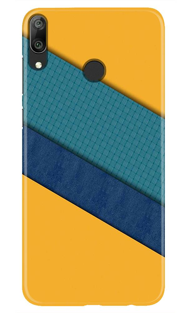 Diagonal Pattern Mobile Back Case for Honor Play (Design - 370)