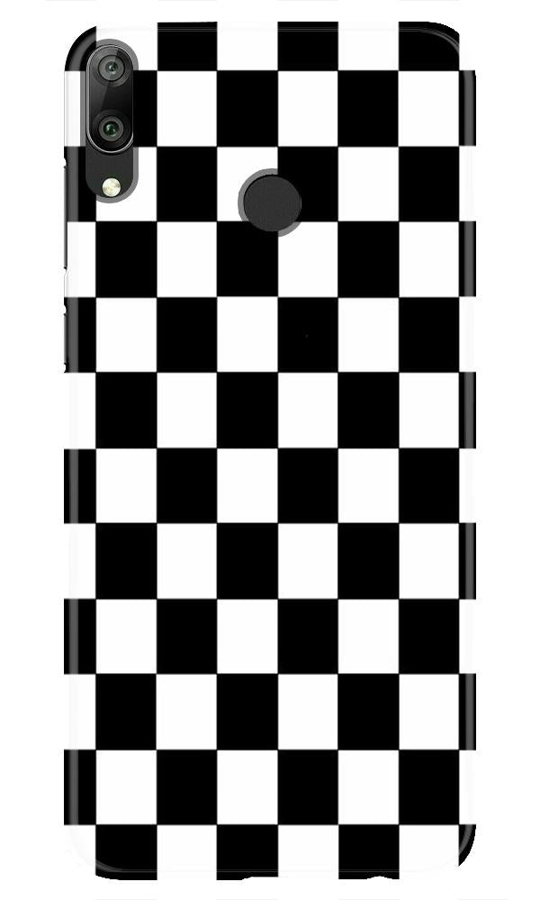 Black White Boxes Mobile Back Case for Honor Play (Design - 372)